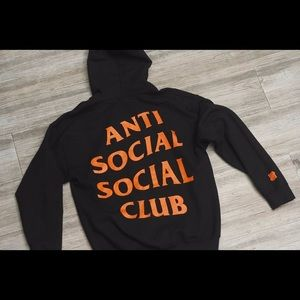 anti social social club paranoid hoodie